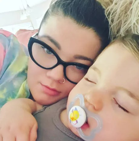 Amber Portwood in Her Bed
