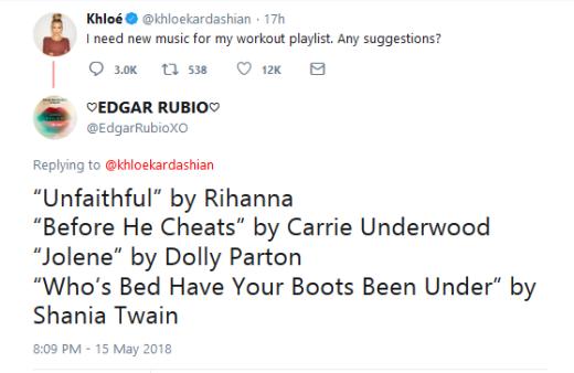Khloe Kardashian - music advice answer