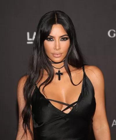 Kim Kardashian Gives a Stare