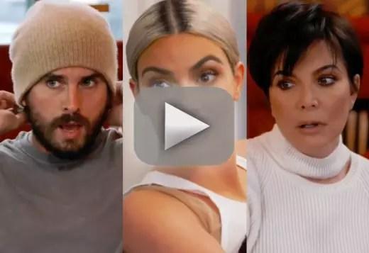 Kris jenner and scott disick kim kardashian scares the eff out o