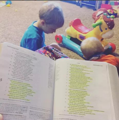 Jill Duggar Bible Post