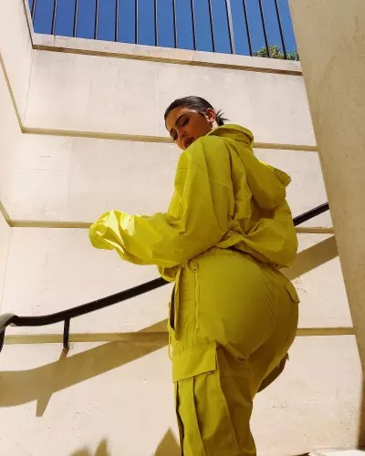 Kylie Jenner Shows Off Her Butt in Yellow