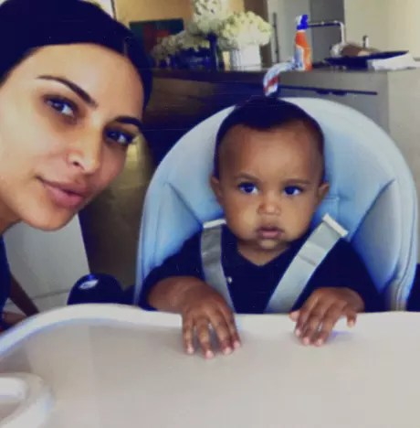 Kim and Saint West