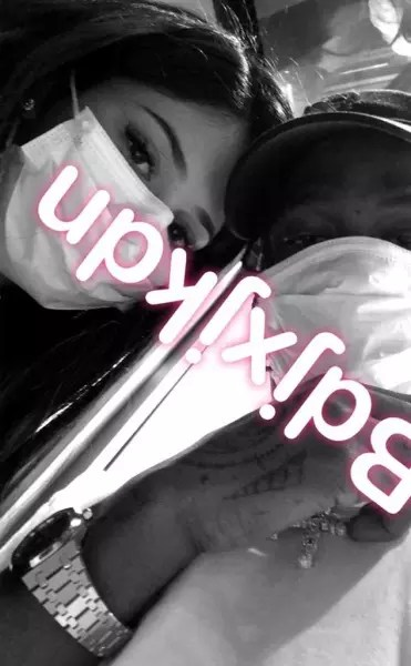 Kylie Jenner With Travis Scott on Snapchat