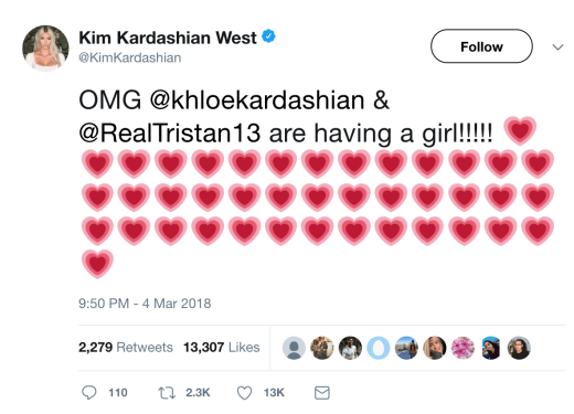kim excited