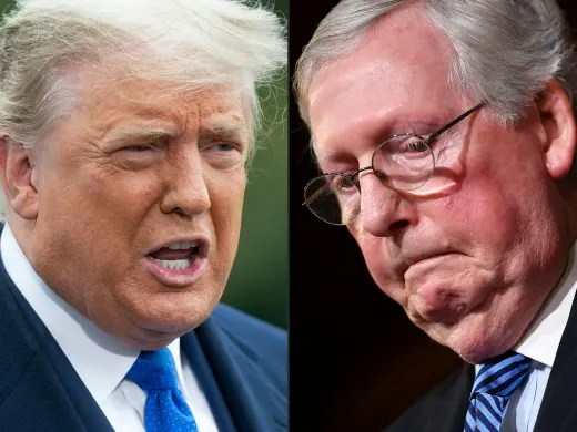 Mitch McConnell and trump
