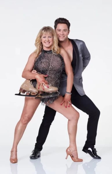 Tonya Harding and Sasha Farber