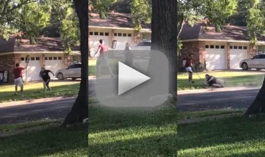 Racist karen tries to tackle black lives matter homeowner gets h