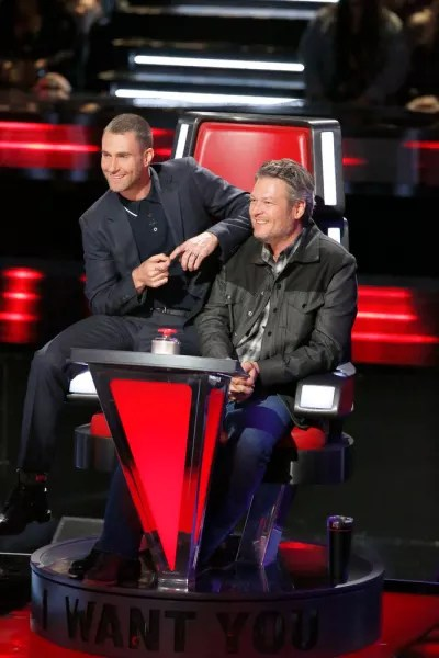 Blake Shelton and Adam Levine on The Voice