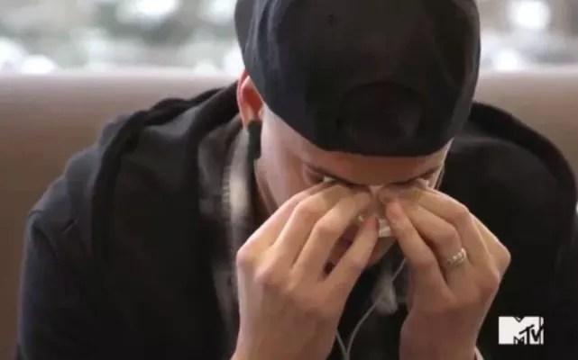 Tyler in tears