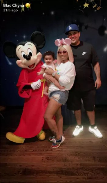 Blac Chyna, Dream, and Rob Kardashian with Mickey