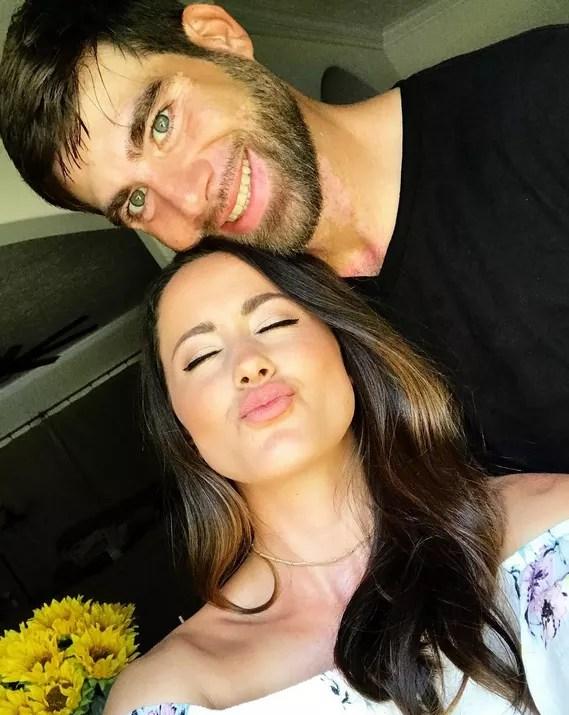 Jenelle evans kissy face with david eason