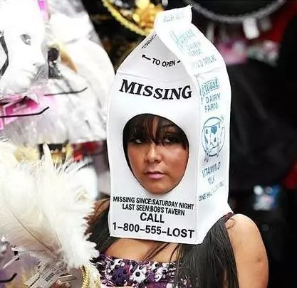 Snooki Halloween costume as a missing child