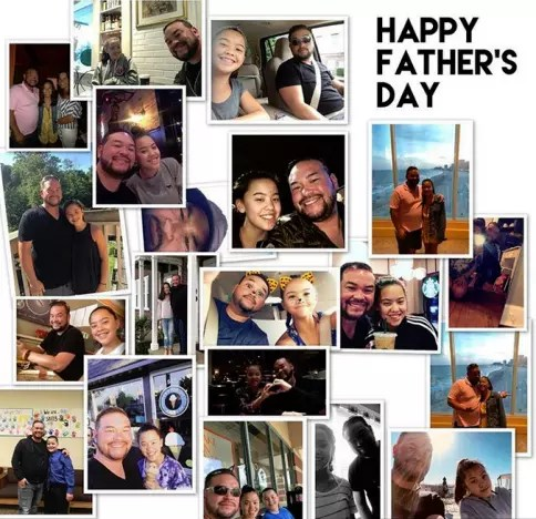 Hannah Gosselin and Jon Gosselin, Father's Day Collage 2018