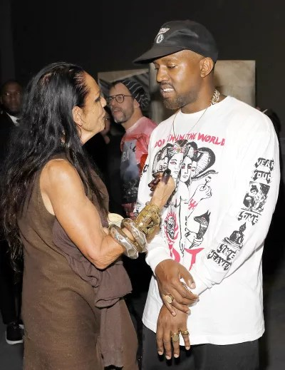 Kanye West and a Woman