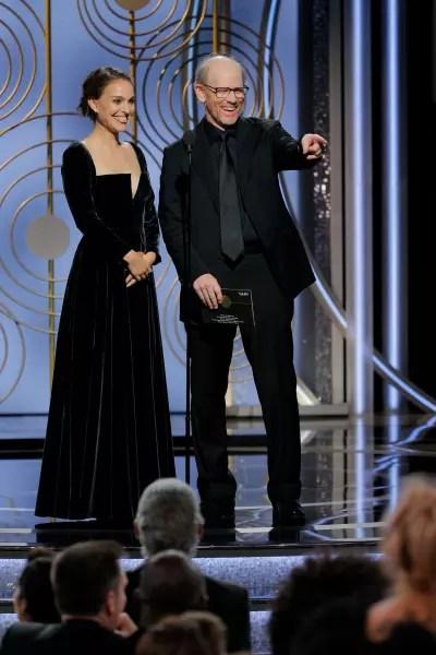 Natalie Portman and Ron Howard, Golden Globes Presenters