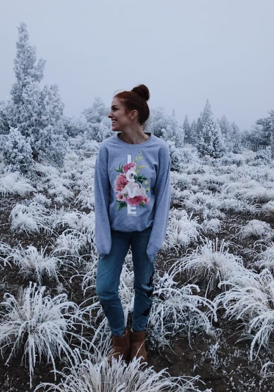Audrey roloff poses on instagram