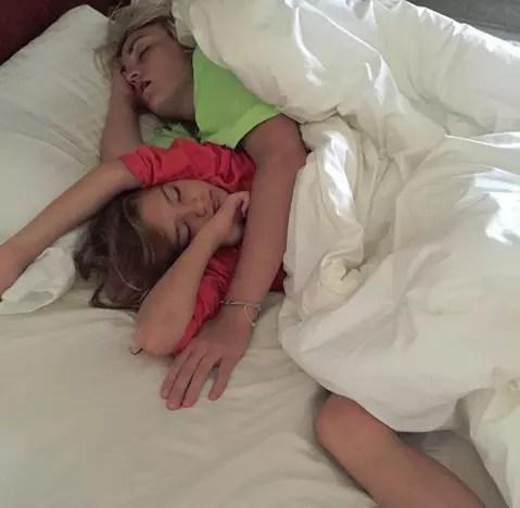 Maddie Aldridge and Jamie Lynn Spears in Bed