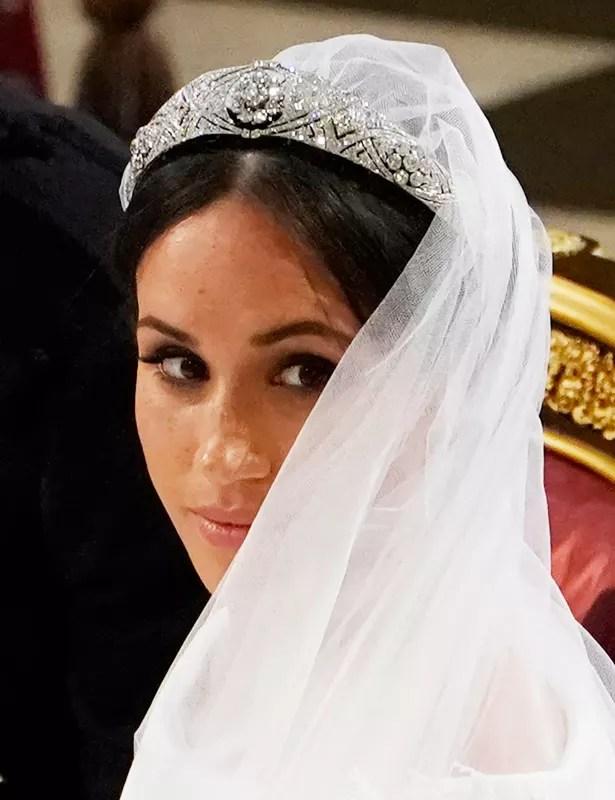 Meghan markle wedding close up