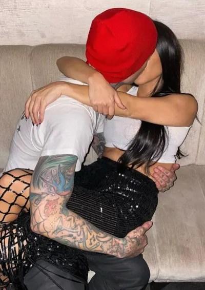 Travis Kisses Kourtney Kardashian