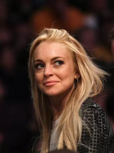 Lindsay Lohan Smirks