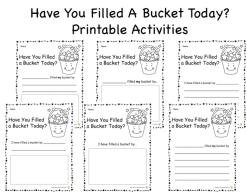Have You Filled A Bucket Today? activities preview