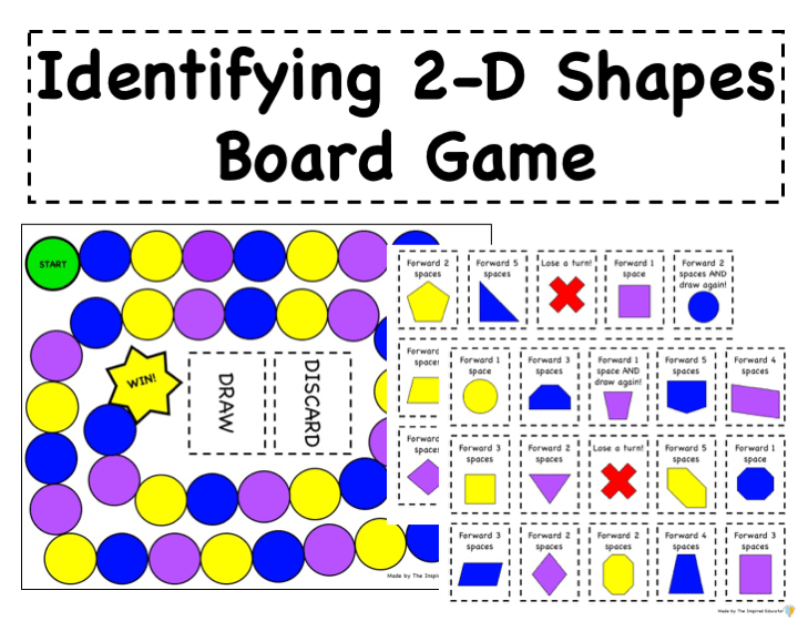 Identifying 2-D Shapes Board Game