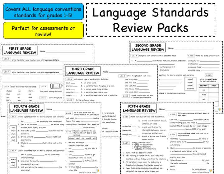 Language Standards Review: Grades 1-5