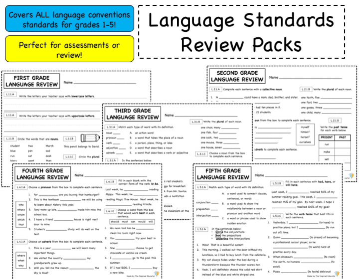 Language Standards Review: Grades 1-5