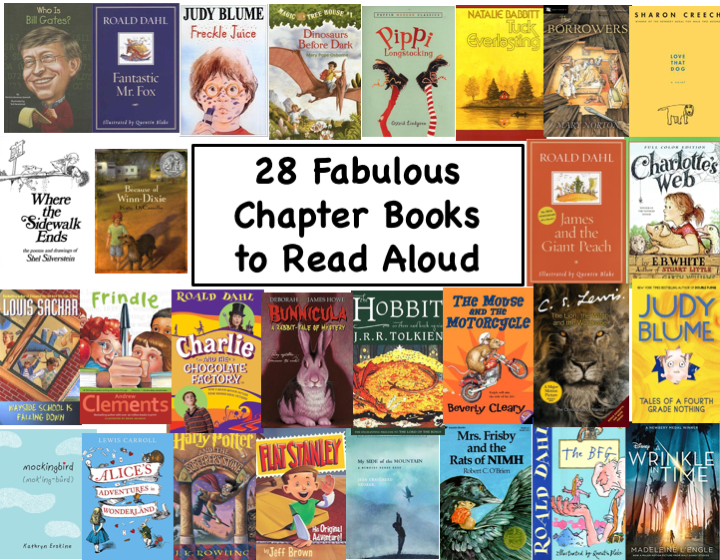 28 Fabulous Chapter Books to Read Aloud