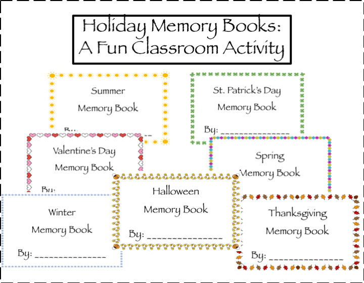 Holiday Memory Books: A Writing Activity