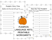 Language Arts Pumpkin Activities preview