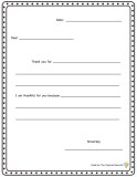 gratitude letter writing template