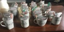 Snowman Mugs Name example