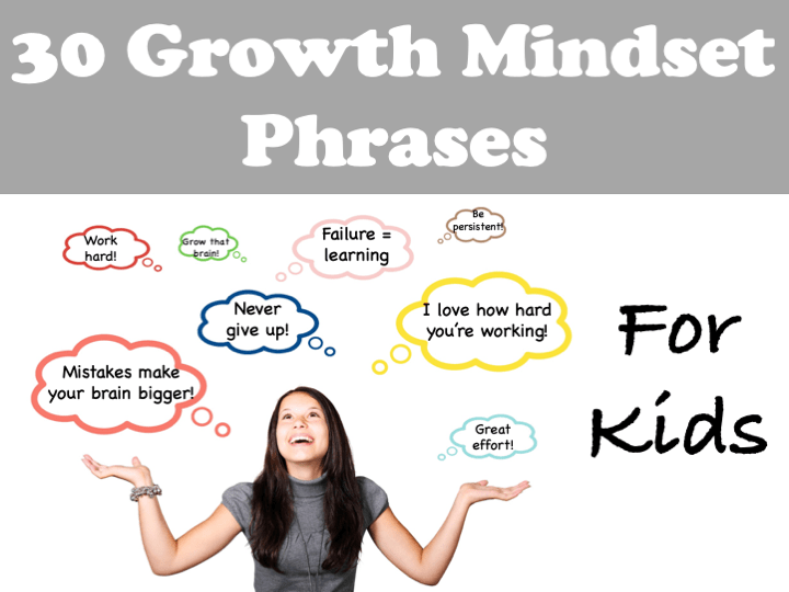 30 Growth Mindset Phrases for Kids