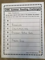 ABC Summer Reading Challenge Example
