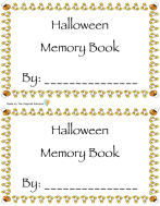 Halloween memory book preview