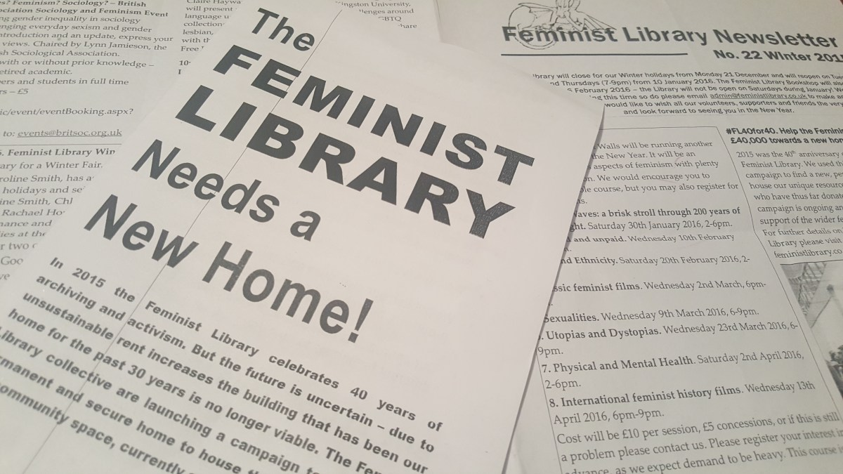 Feminist Library pamphlet asks for donations