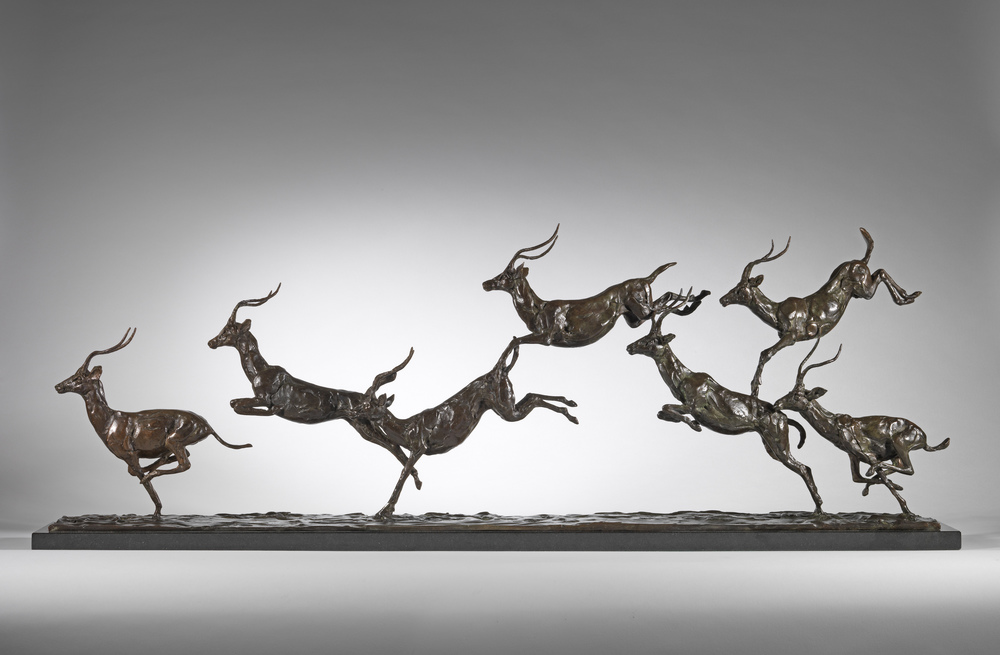 Leaping Impala Line, photo courtesy of Sladmore Contemporary Gallery