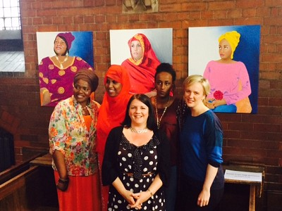 From left to right: Alimatu Dimonekene, Hibo Wardere, Emma Scutt, Leyla Hussein and MP Stella Creasy. Photo credit: Emma Scutt