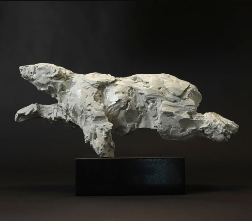 A swimming polar bear, photo courtesy of Sladmore Contemporary Gallery