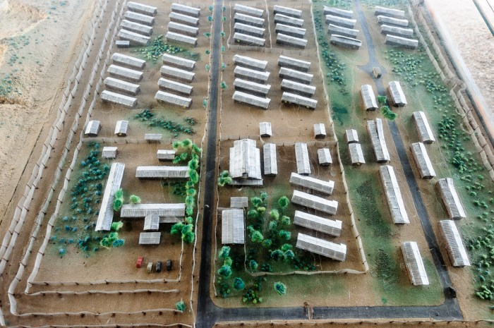Model of Atlit detainee camp