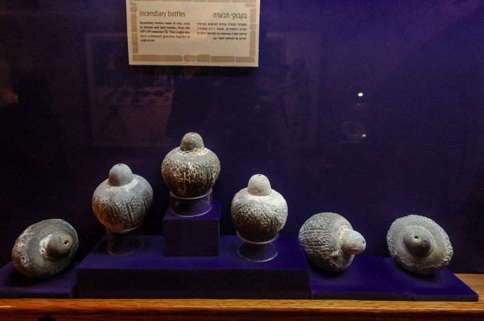 Ancient incendiary bottles (Greek fire)