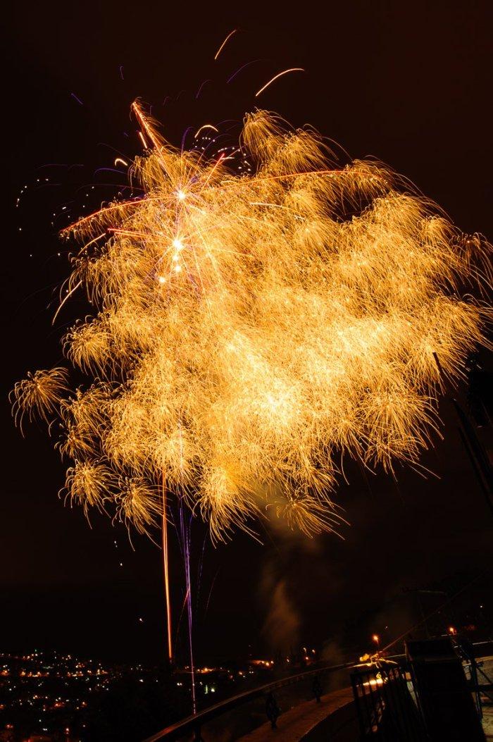 Fireworks in Jerusalem