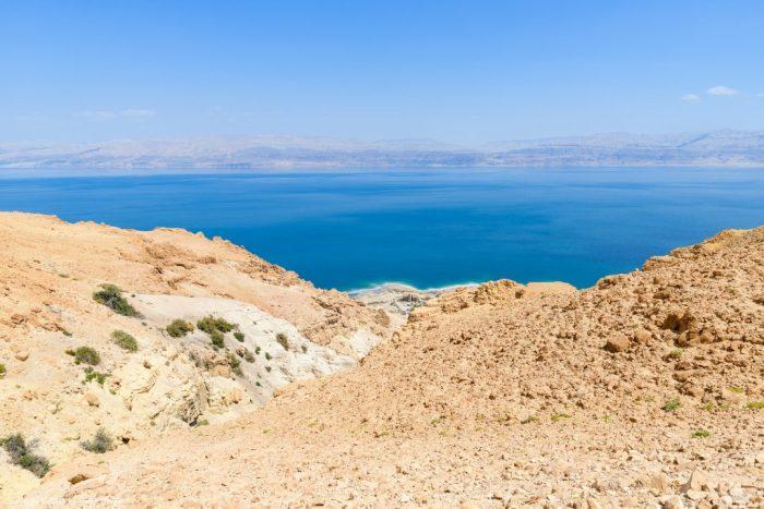 Totes Meer und die Berge von Moab