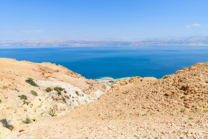 Dead Sea and the mountains of Moab
