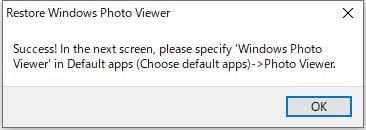Restore Windows Photo Viewer