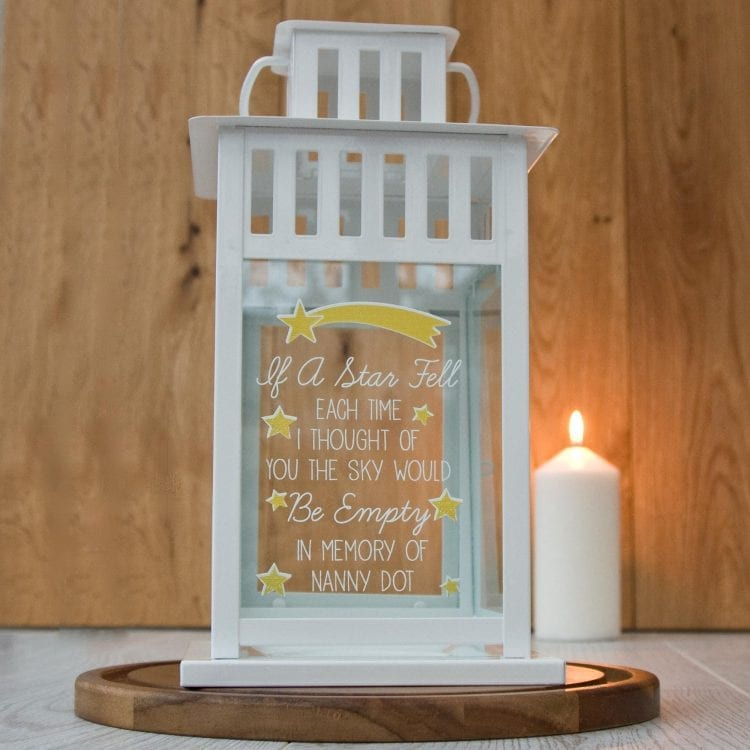 Lantern Memorial Poem Stars The Laser Boutique