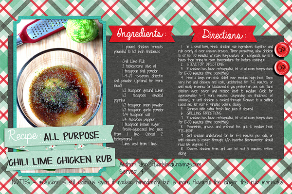 recipe pages template