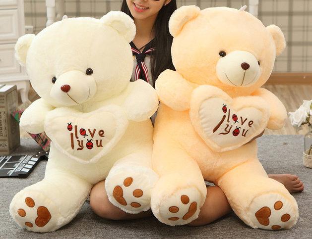 1pc-Big-I-Love-You-Teddy-Bear-Large-Stuffed-Plush-Toy-Holding-LOVE-Heart-Soft- 2